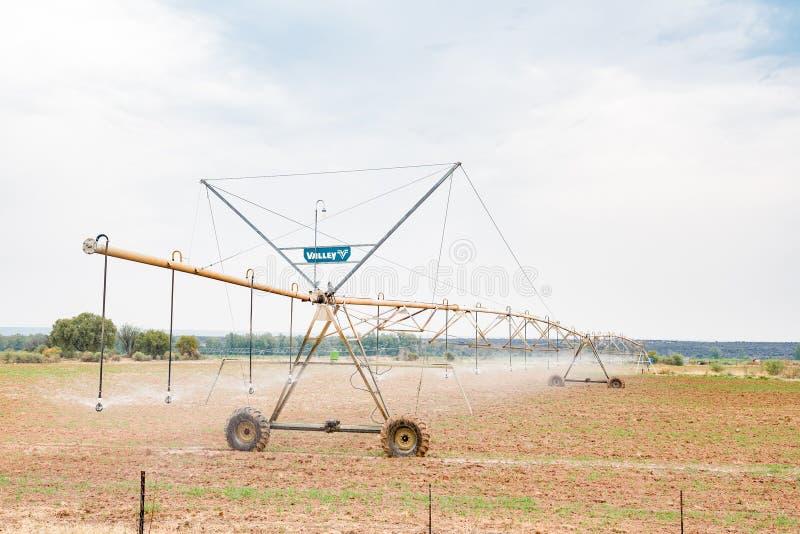 De irrigatiesysteem van de centrumspil royalty-vrije stock afbeeldingen