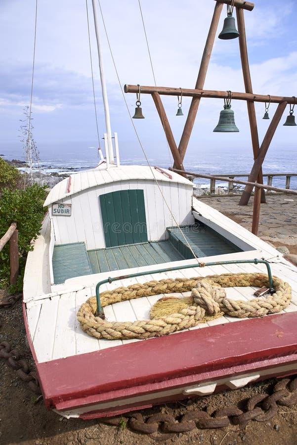 10/08/2016 de Isla Negra, o Chile Vistas e paisagens de uma das casas na costa central do poeta chileno Pablo Neruda fotografia de stock royalty free