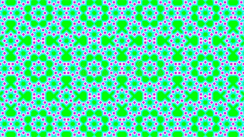 De Islamitische decoratie als achtergrond, bestaat uit vierkanten en sterrenvormen, mooie kleuren en aantrekkelijke kleuren vector illustratie