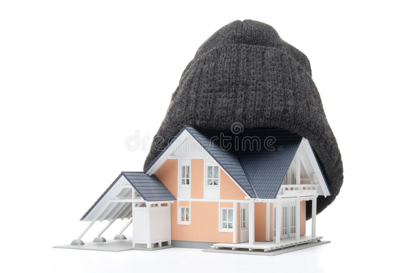 De isolatie van het huis stock foto