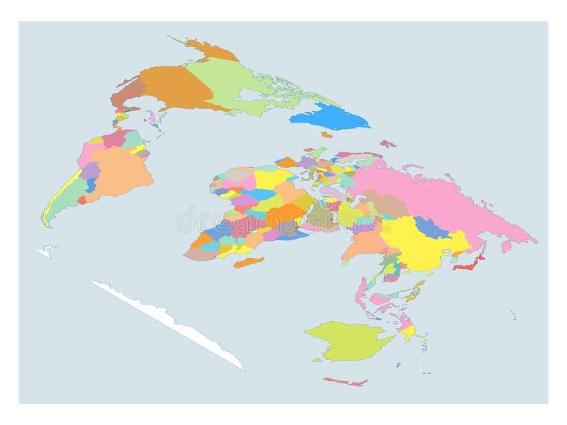 De isometrische Hoge kaart van de Detailwereld royalty-vrije illustratie