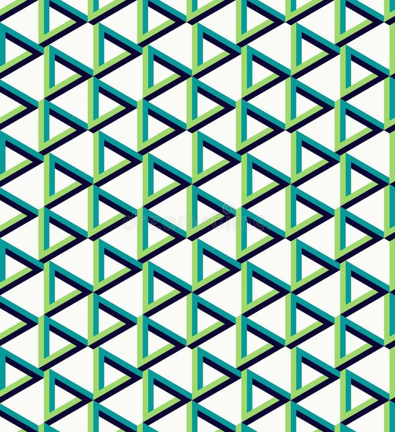 De isometrische onwerkelijke achtergrond van het driehoekspatroon royalty-vrije illustratie