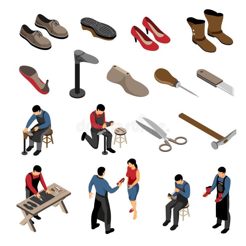 De Isometrische Reeks van de schoenmaker stock illustratie
