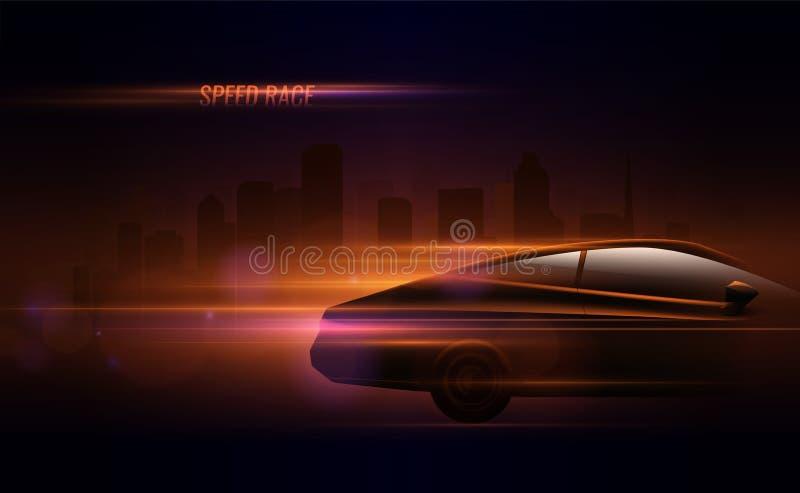 De Isometrische Samenstelling van de snelheidsraceauto royalty-vrije illustratie
