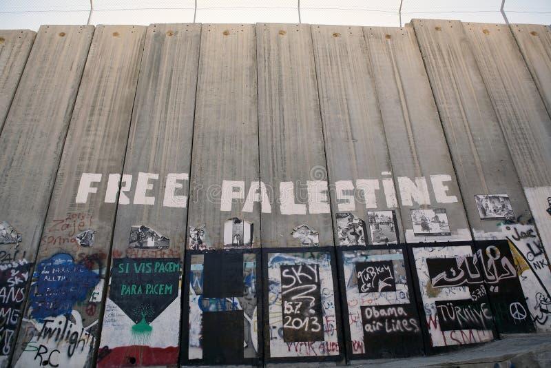 De Israëlische barrière van Cisjordanië  stock foto's