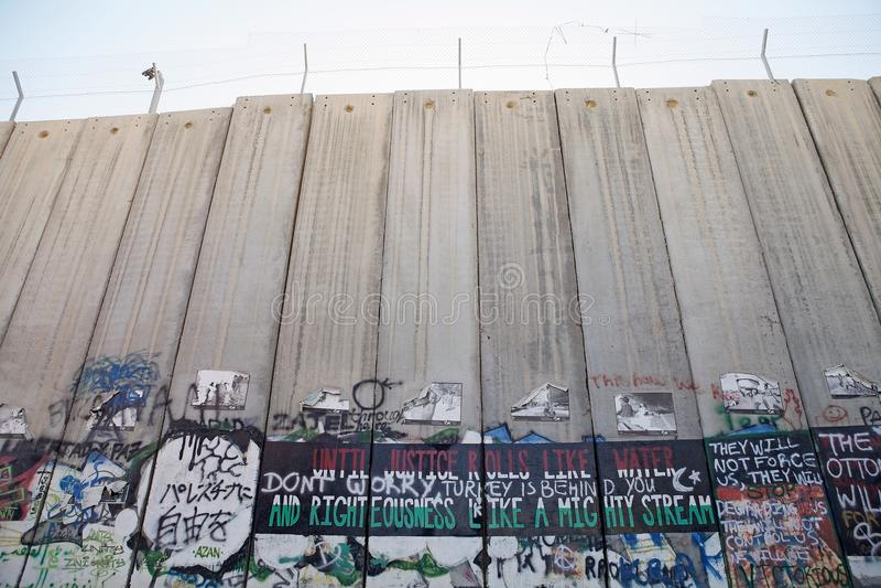 De Israëlische barrière van Cisjordanië royalty-vrije stock fotografie
