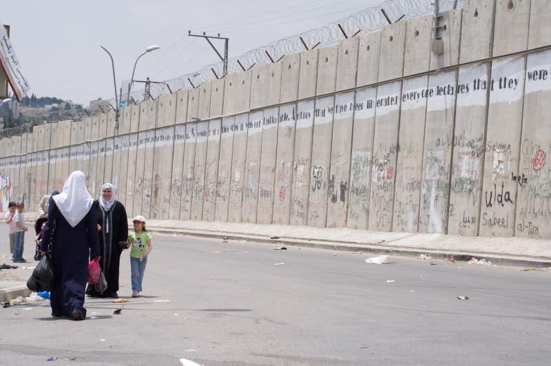 De Israëlische Barrière van de Scheiding stock afbeelding