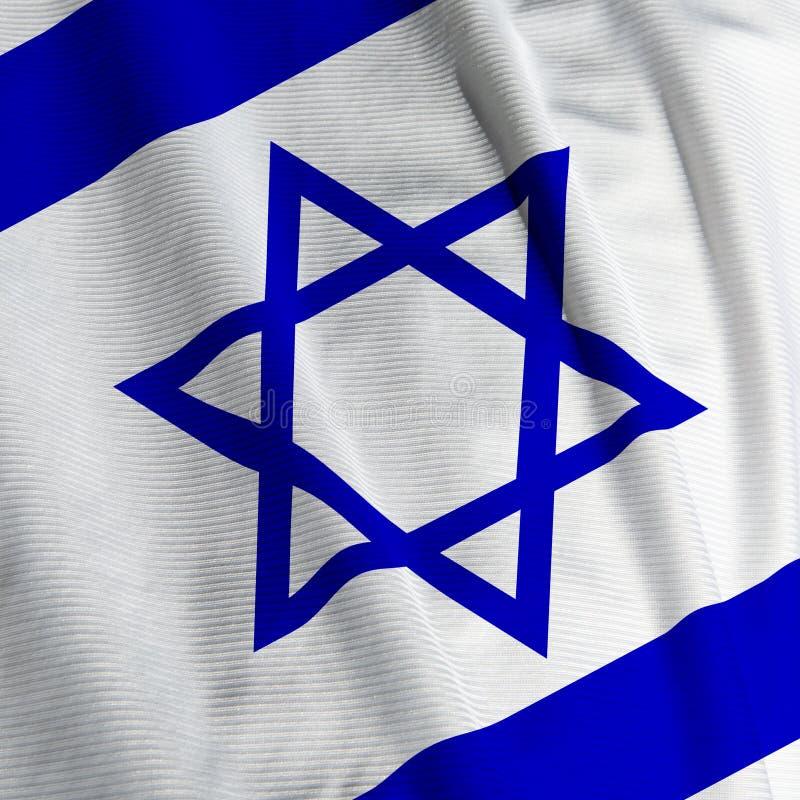 De Israëlische Close-up van de Vlag stock afbeelding