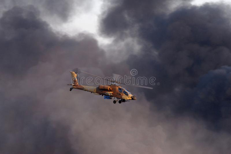 De Israëlische Helikopter van de Luchtmacht stock afbeeldingen