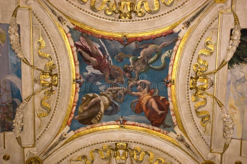 De Italiaanse fresko van de Renaissance royalty-vrije stock afbeeldingen