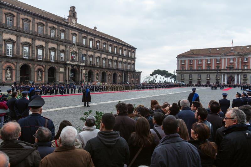 Herdenking van de honderdjarige viering met de Italiaanse lucht force royalty-vrije stock fotografie