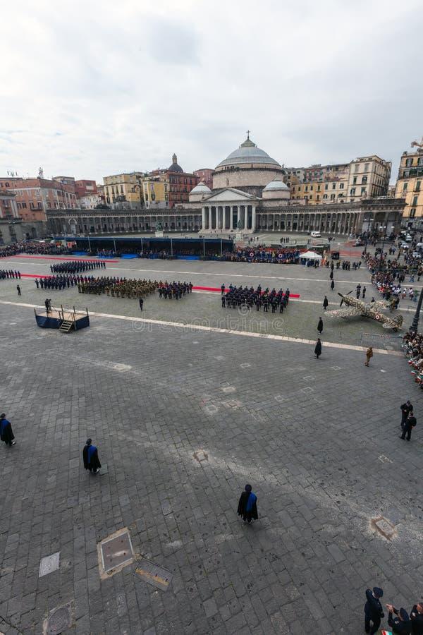 Herdenking van de honderdjarige viering met de Italiaanse lucht force royalty-vrije stock afbeeldingen