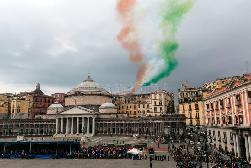 Herdenking van de honderdjarige viering met de Italiaanse lucht force stock foto's