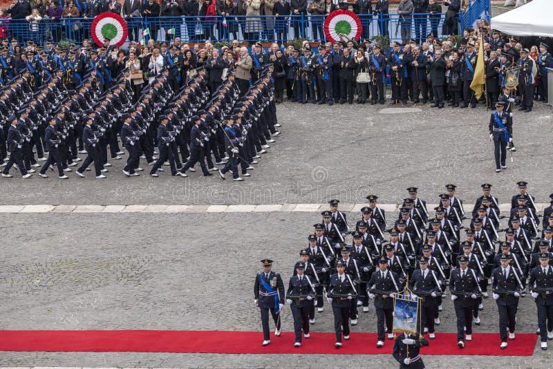 Herdenking van de honderdjarige viering met de Italiaanse lucht force stock afbeelding