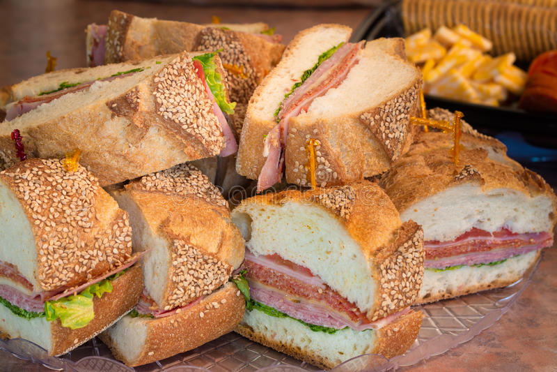 De Italiaanse Sandwich van de Partij royalty-vrije stock afbeeldingen