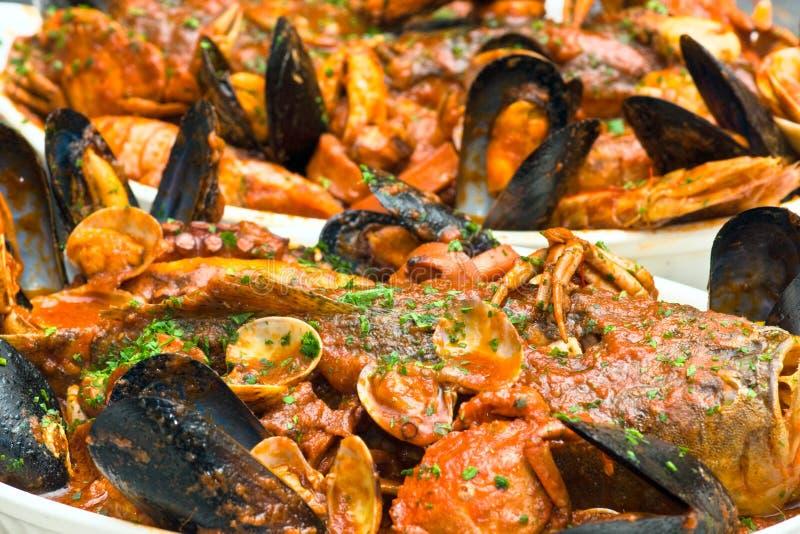 De Italiaanse Soep van Zeevruchten stock afbeelding