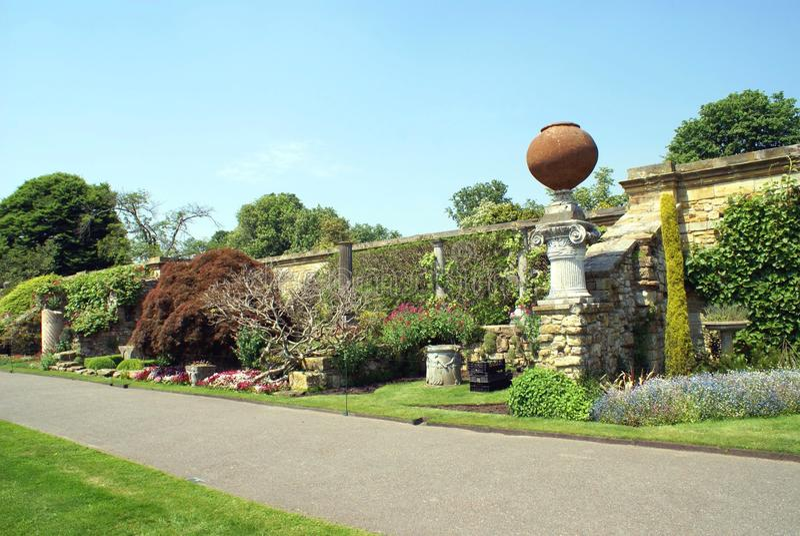 De Italiaanse tuin van het Heverkasteel in Engeland royalty-vrije stock fotografie