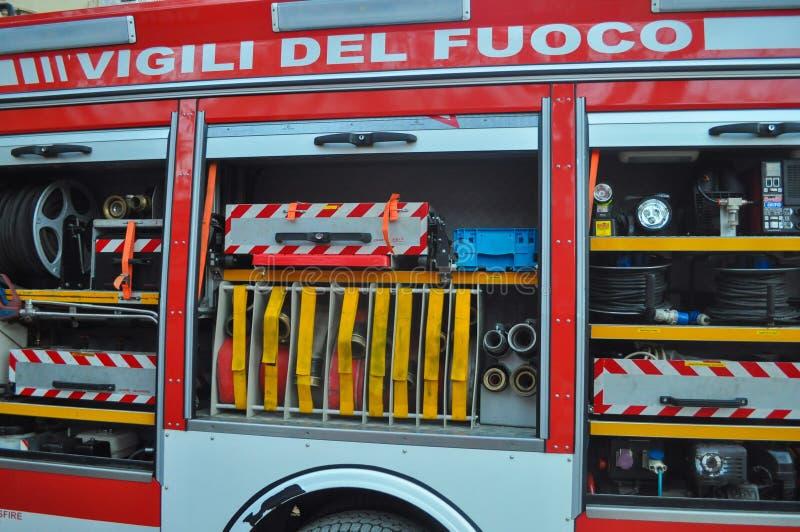 De Italiaanse vrachtwagen van de brandbrigade royalty-vrije stock foto