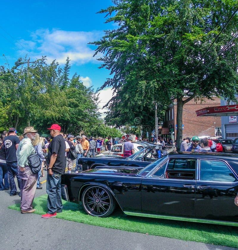 De jaarlijkse auto toont bij Groen Meer, Washington royalty-vrije stock foto