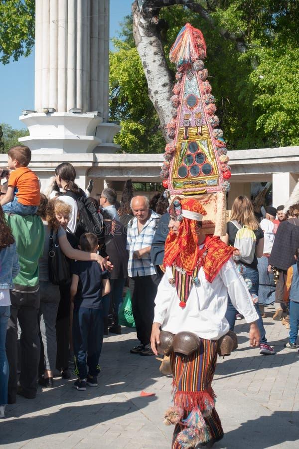 De jaarlijkse Lente Carnaval in Varna, Bulgarije stock afbeeldingen