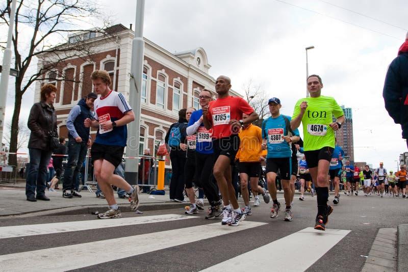 De jaarlijkse Marathon 2010 van Fortis Rotterdam royalty-vrije stock foto