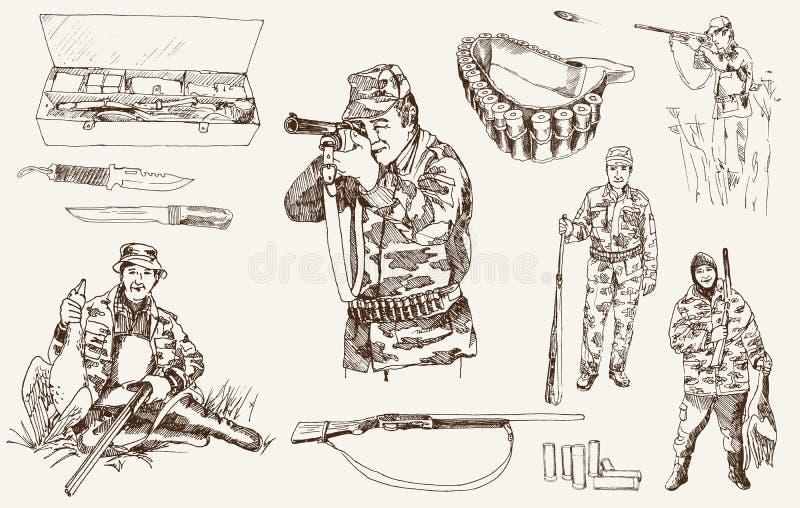 De jacht stock illustratie