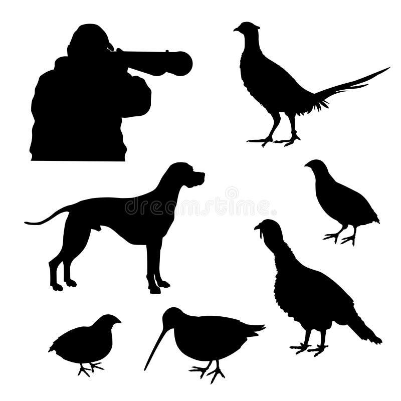 De jacht vastgestelde vector stock illustratie