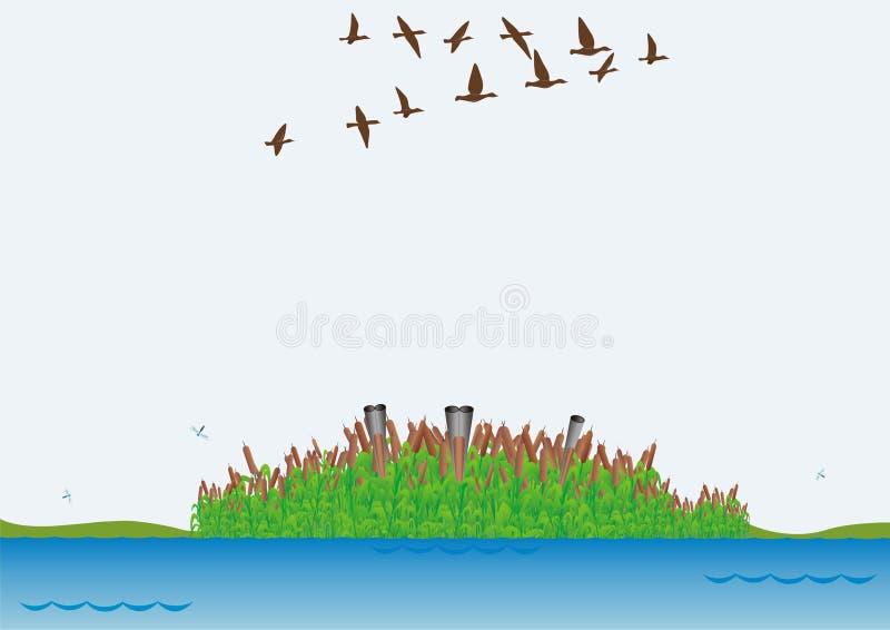 De jacht voor eenden stock illustratie