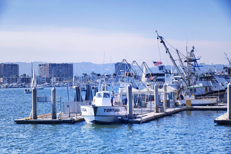 De jachten van Marina Del Rey Californië stock foto's