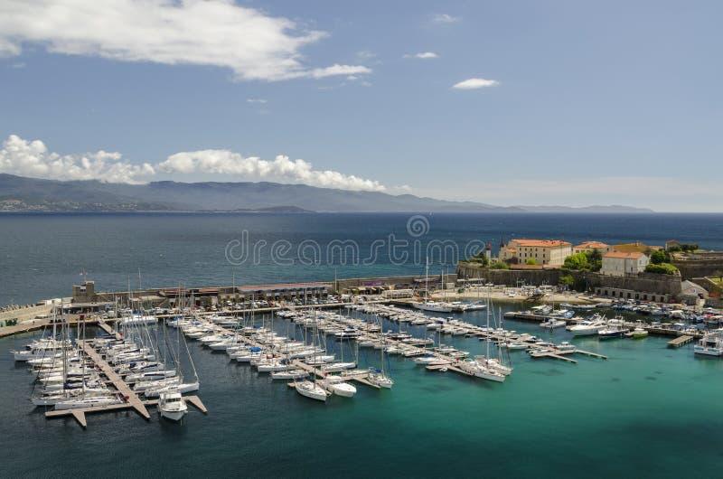 De jachthaven van Ajaccio royalty-vrije stock foto's