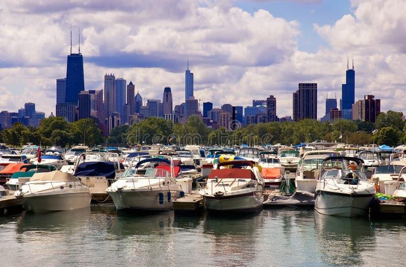De jachthaven van Chicago royalty-vrije stock afbeeldingen