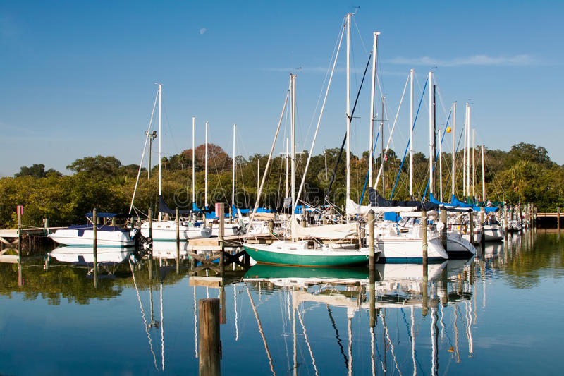 De Jachthaven van de zeilboot in Florida royalty-vrije stock fotografie