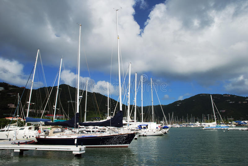 De Jachthaven van het Eiland van Tortola royalty-vrije stock afbeeldingen