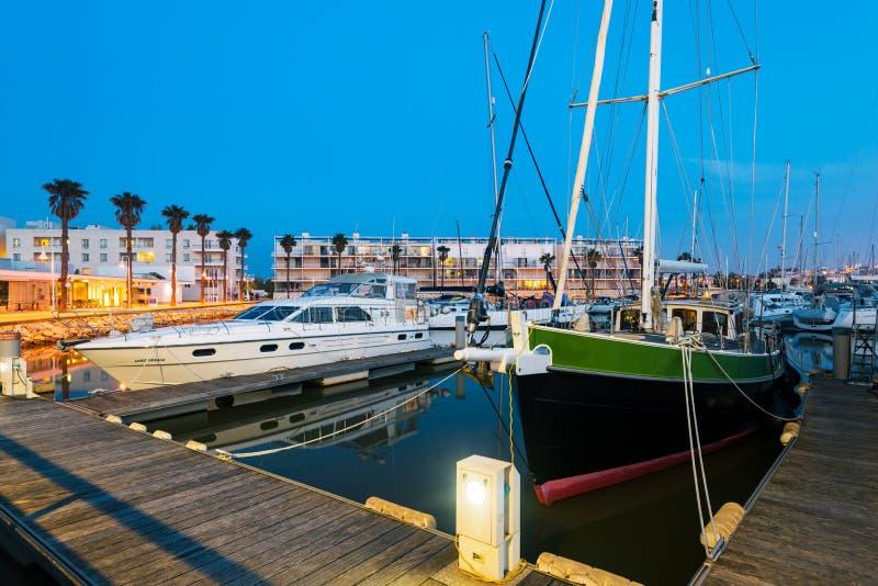 De jachthaven van Lagos, Algarve, Portugal stock afbeeldingen