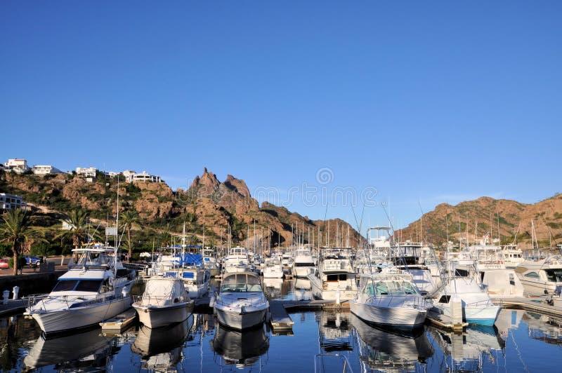 De jachthaven van San Carlos, Sonora Mexico royalty-vrije stock afbeelding