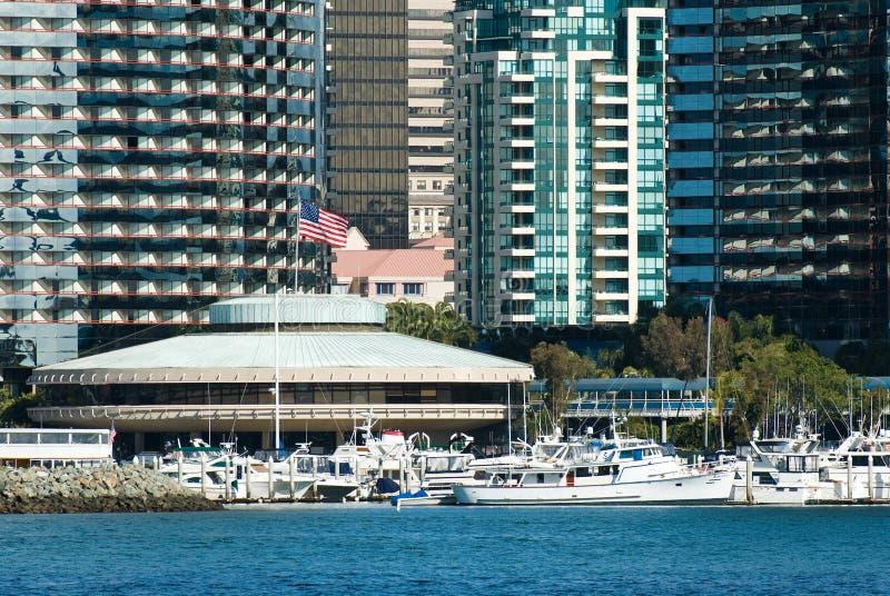 De Jachthaven van San Diego stock afbeeldingen