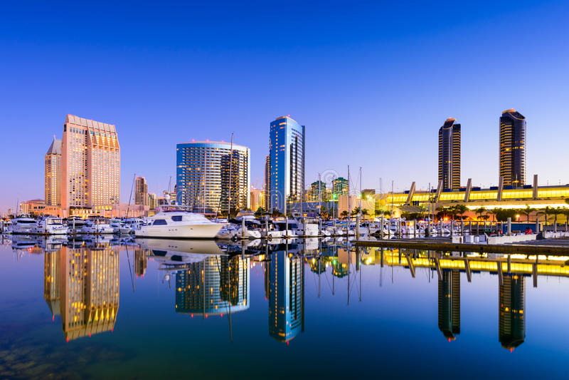 De jachthaven van San Diego stock foto