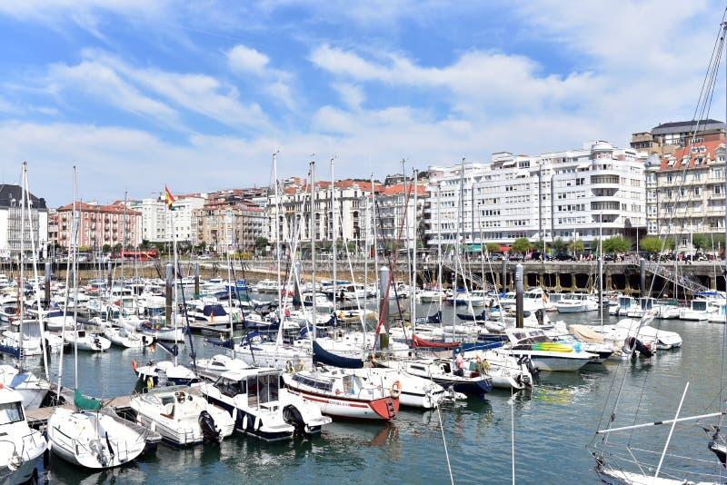 De Jachthaven van Santander stock fotografie