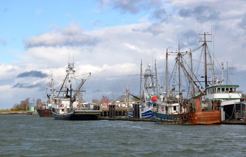 De Jachthaven van de vissenboot stock foto's