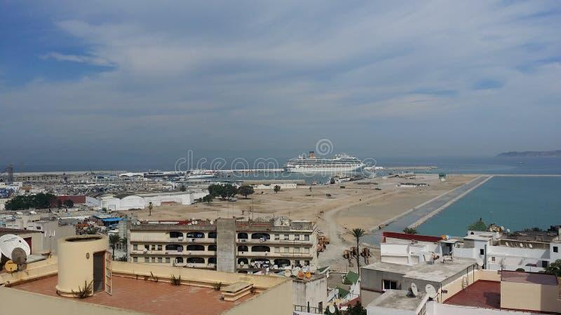 De jachthavenhaven van Tanger stock afbeeldingen