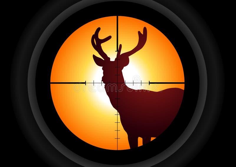 De Jager van herten royalty-vrije illustratie