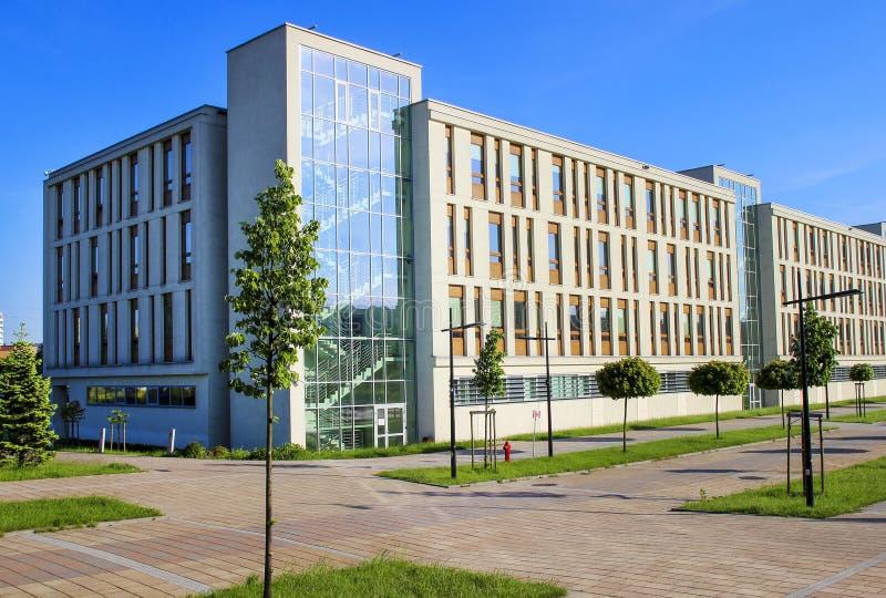 De Jagiellonian-Universiteit, de Moderne campus van Krakau, Polen bouwt royalty-vrije stock afbeelding