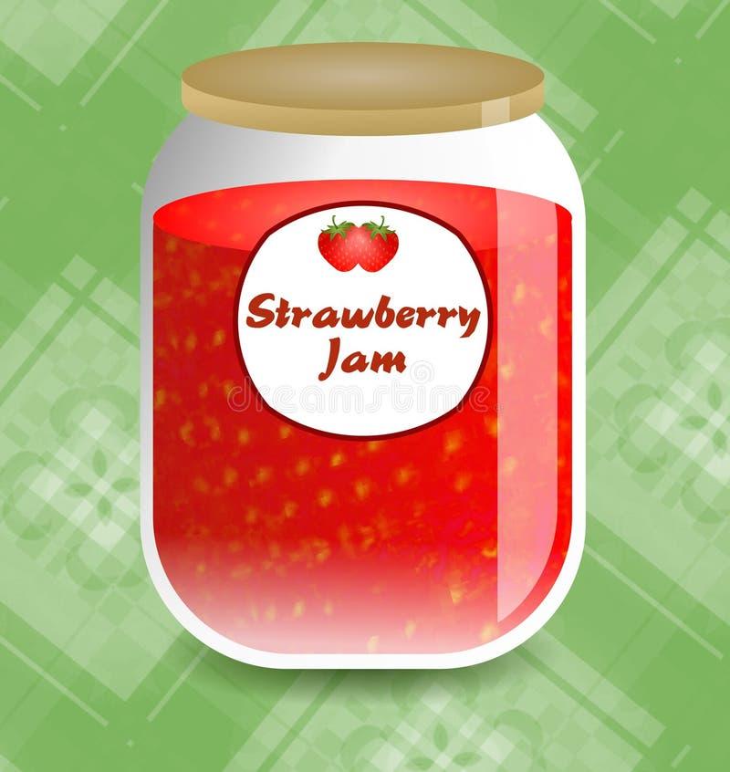 Download De Jam van de aardbei stock illustratie. Afbeelding bestaande uit producten - 42949