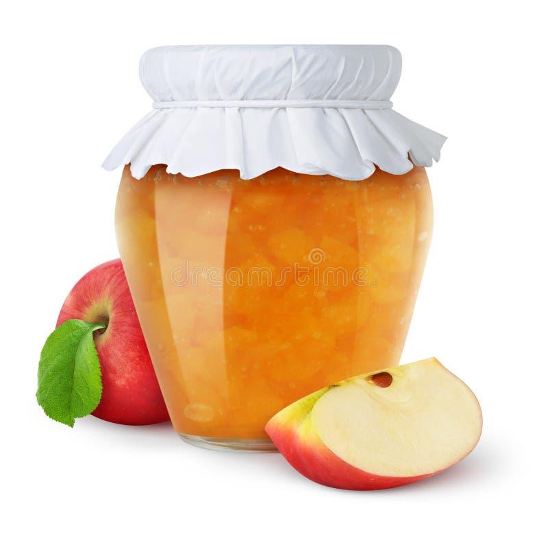 De jam van de appel stock afbeelding