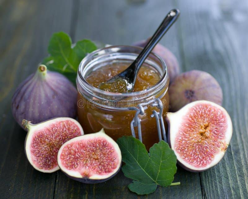 De jam van fig. stock foto's