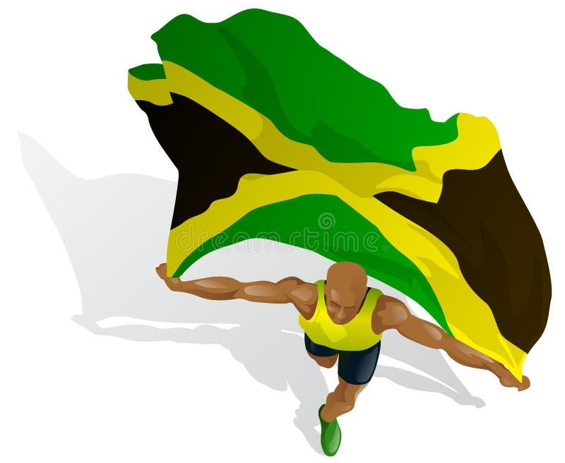 De Jamaicaanse Winnaar van het Ras royalty-vrije illustratie
