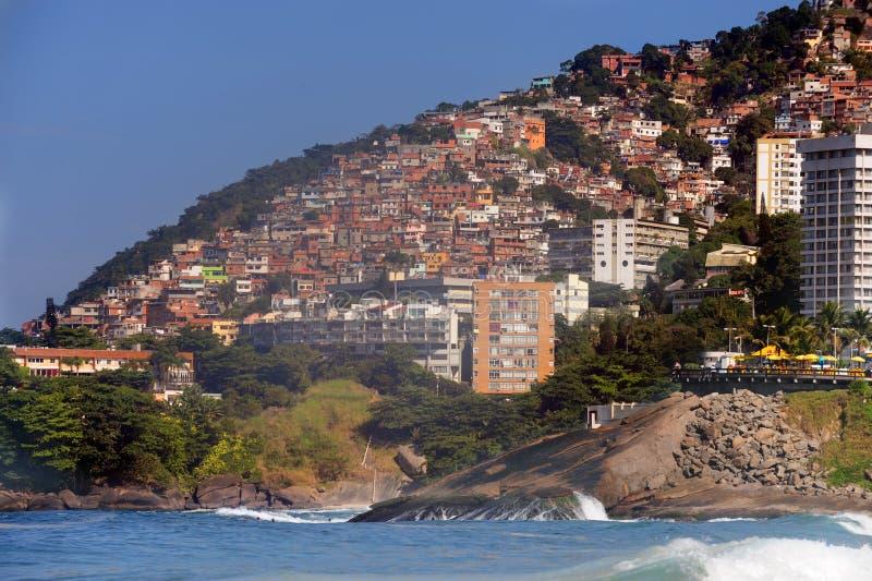 de janeiro Favela Rio vidigal obrazy stock