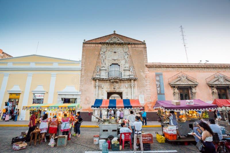15 de janeiro de 2017 Merida, México Casa da casa Montejo de Museo do museu de Montejo fotografia de stock royalty free