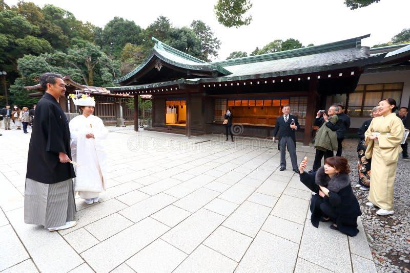 De Japanse ceremonie van het Huwelijk stock afbeelding