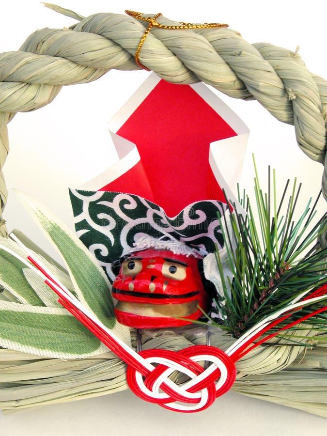 De Japanse decoratie van het Nieuwjaar stock afbeelding